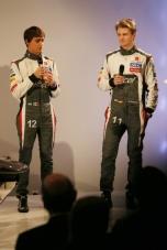 kiri ke kanan: Esteban Gutierrez dan Nico Hulkenberg.