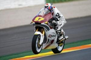 Rafid Topan Sucipto di sesi tes resmi Moto2 Valencia, Februari 2013.